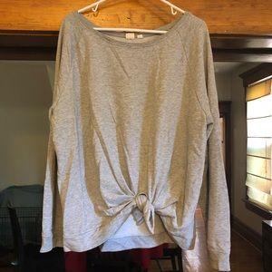 Gap tie sweatshirt